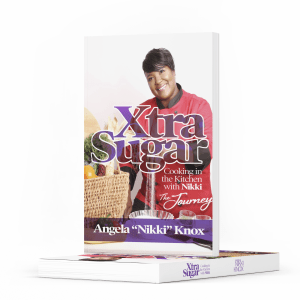 mockup of XtraSugar book, one standing, one lying on white background