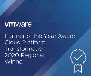 Partner of the Year Award, Cloud Platfoirm Transformation 2020 Regional Winner