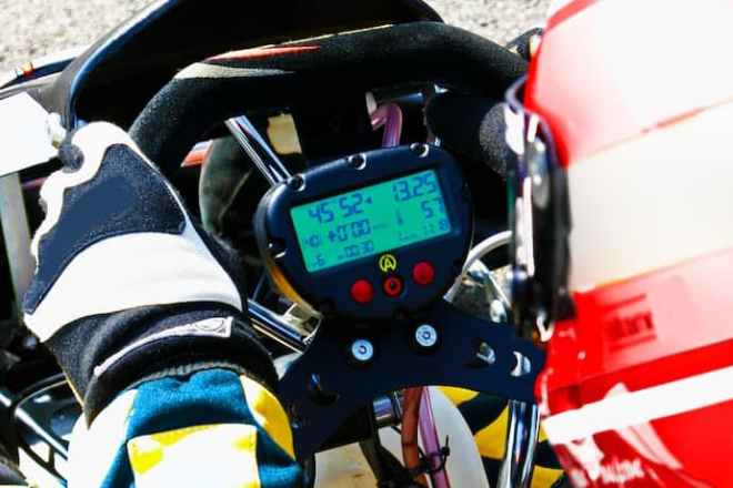 Close up of a Formula 1 cars cockpit