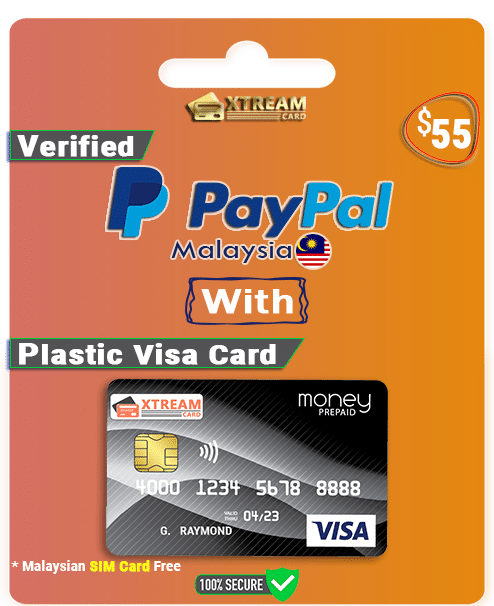 Verified PayPal Account With Plastic Visa Card