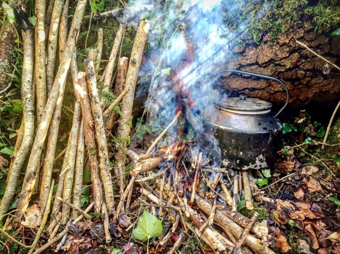 Fire building and forest kettles at Xtreme's Adventure Summer Camps at Carton House.