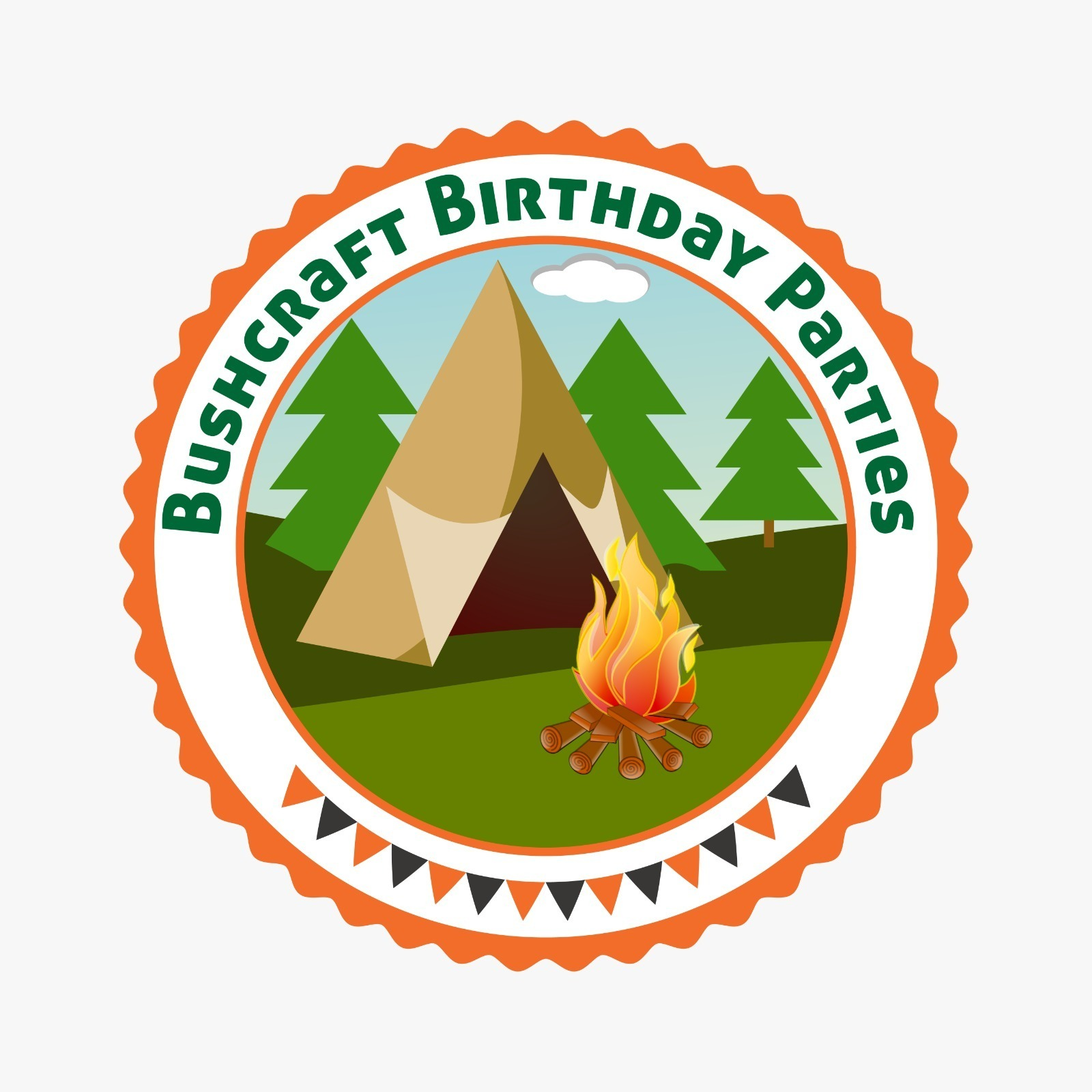 Xtreme.ie's bushcraft birthday party logo