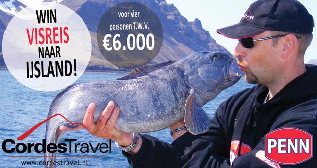 Tevens maak je kans met je E-ticket op een visreis naar IJsland voor 4 personen t.w.v. € 6.000!