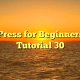 WordPress for Beginners 2015 Tutorial 30