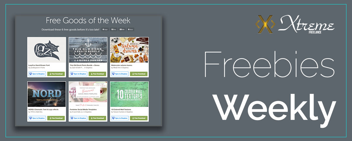 Free Good Of The Week – Creative Market – Oct. 03
