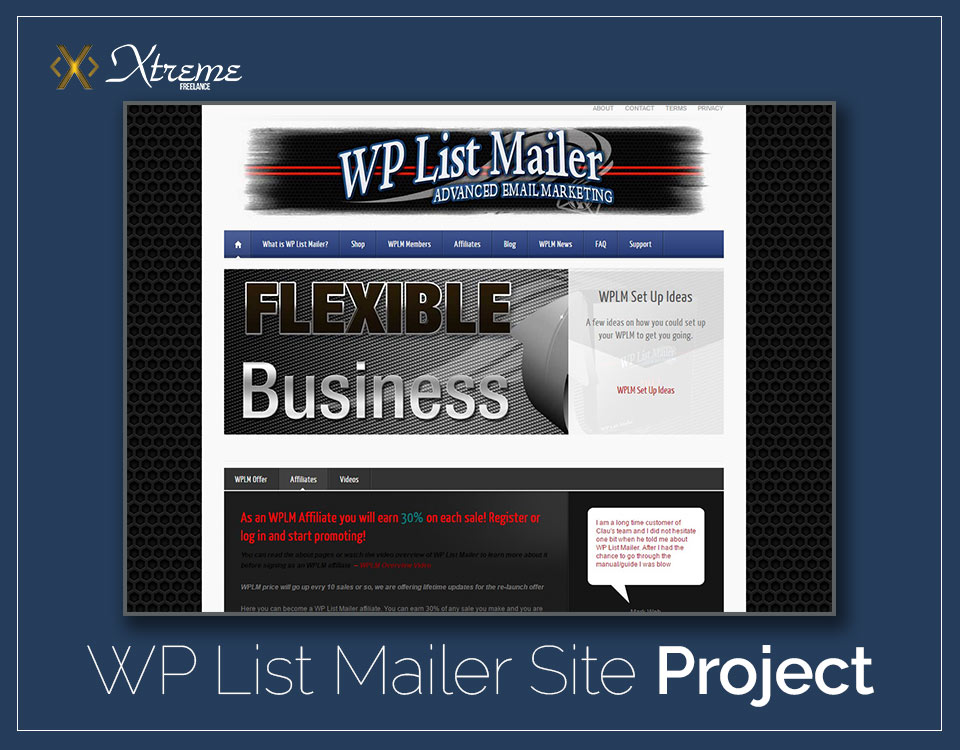 WP List Mailer Website Project