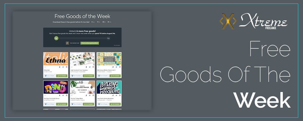 Free Goods Of The Week – Aug.06