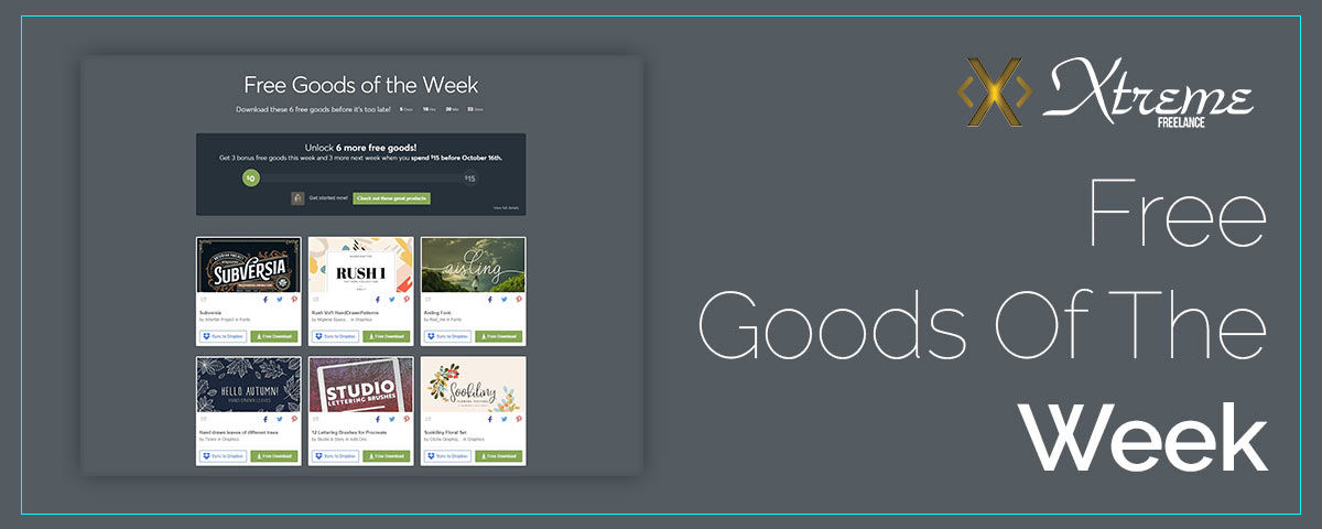 Free Goods Of The Week – Oct.01