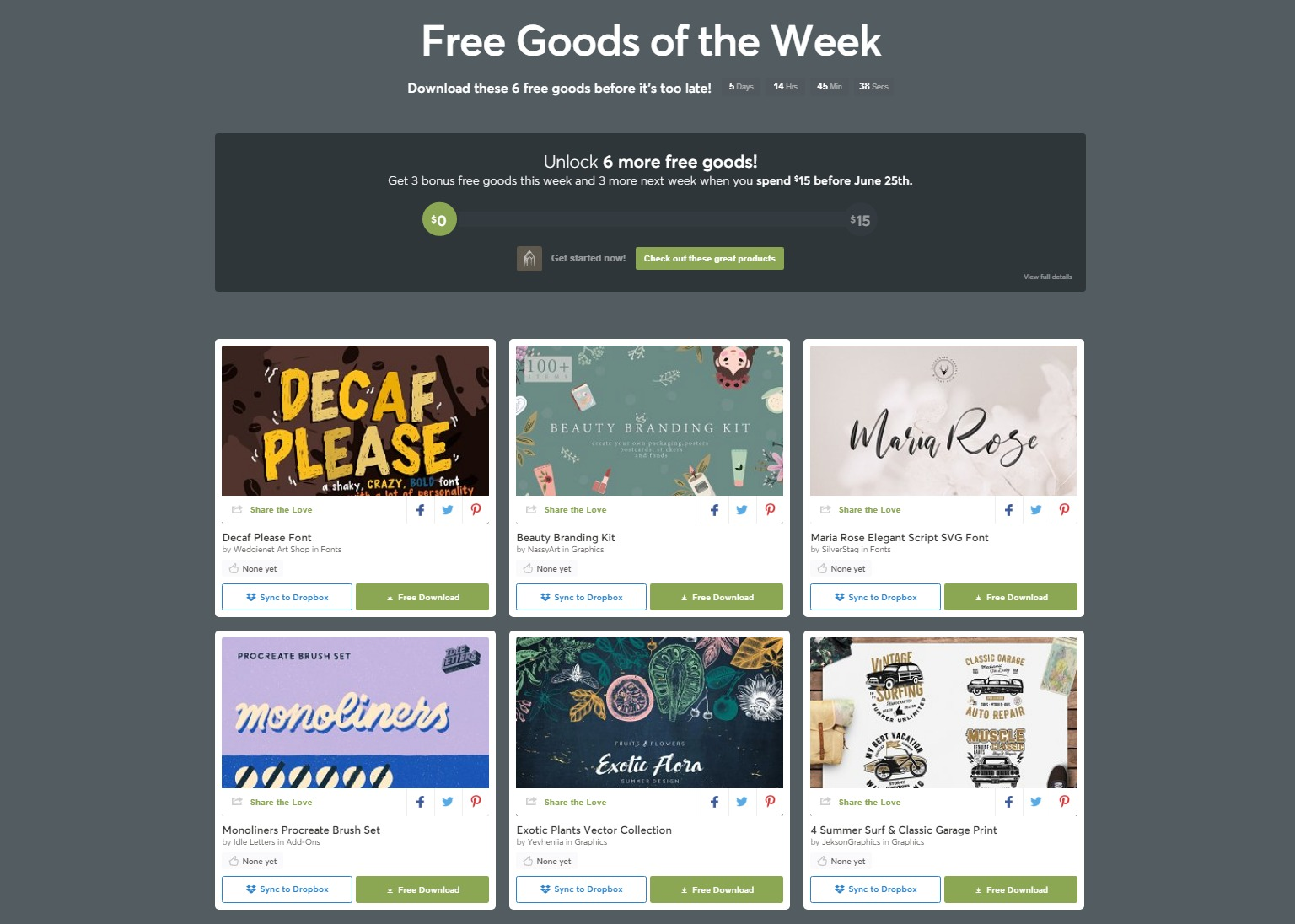 Free Goods Of The Week –