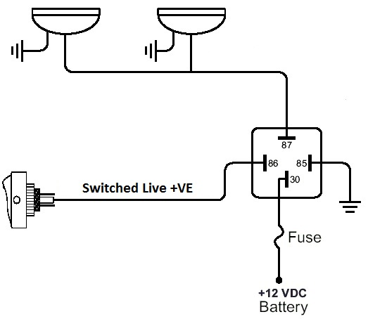 simple relay switch wiring diagram