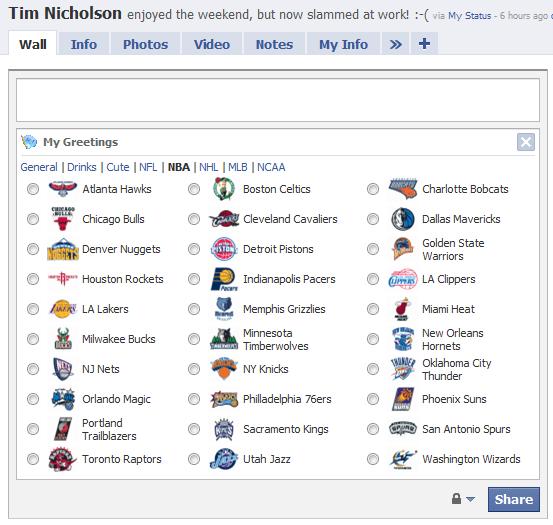 My Greetings - NBA Team Icons