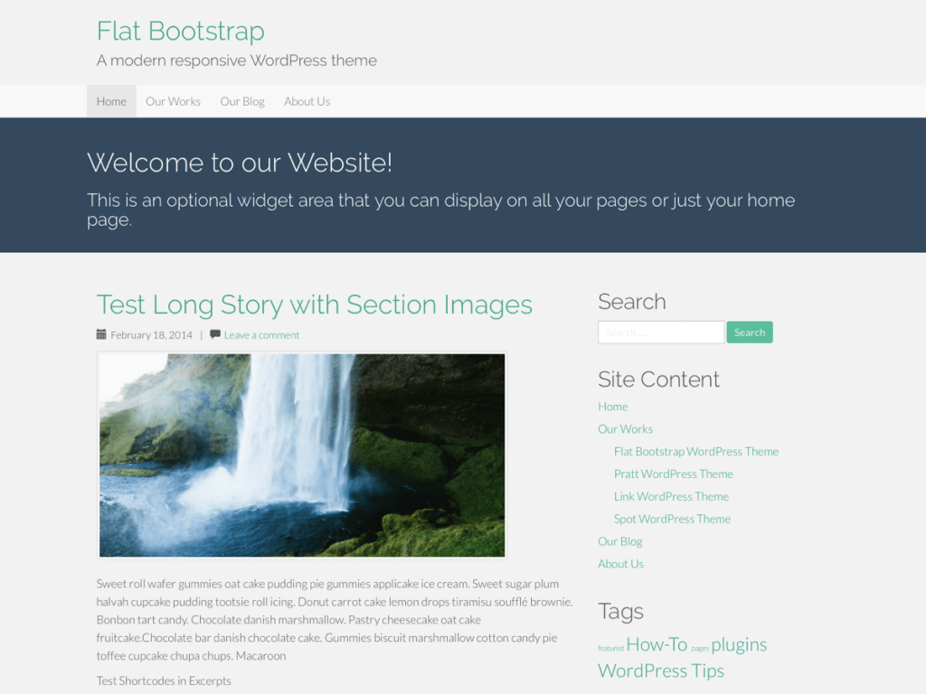 Flat Bootstrap WordPress Theme Screenshot