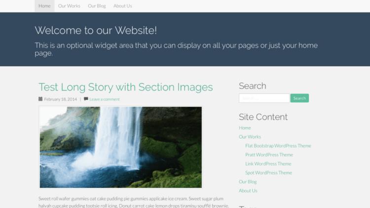 Flat Bootstrap WordPress Theme Screenshot