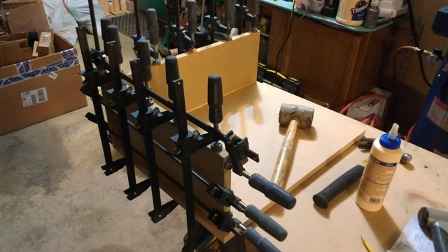 Custom sub box clamps MDF