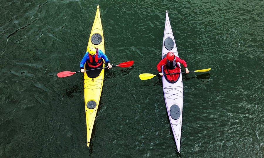 canoe vs kayak - kayak 1
