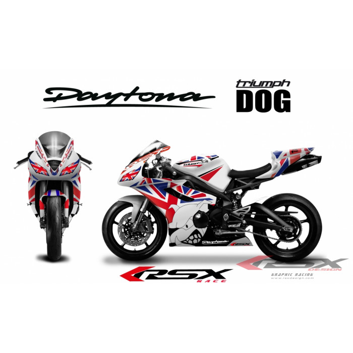 RSX kit déco racing TRIUMPH DAYTONA 675 DOG 06-12