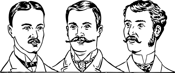 gentlemen beards in various shape