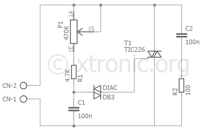 triac light dimmer circuit