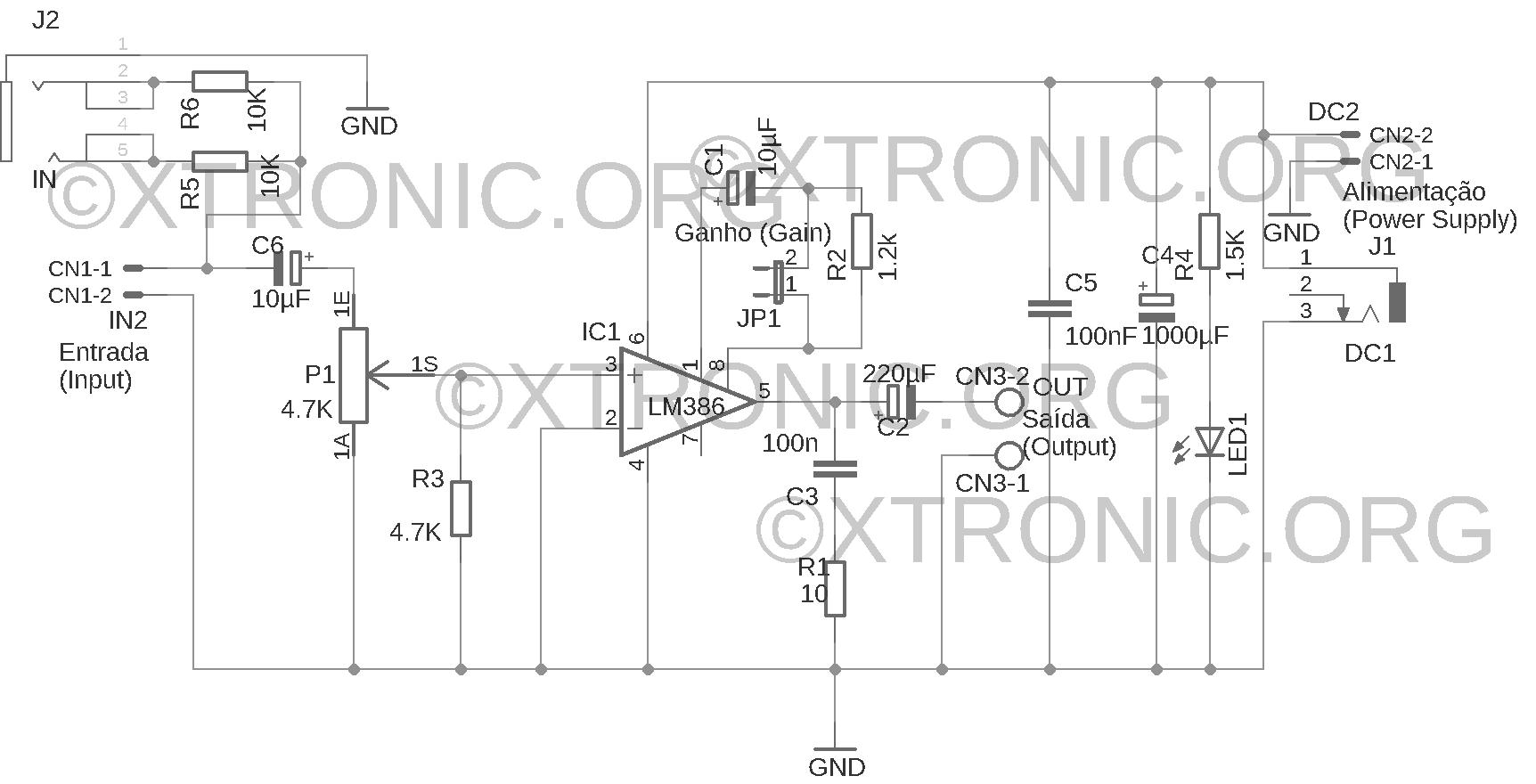Lm386 Audio Amplifier Circuit Schematic