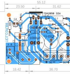 schematic of amplifier with tda2050 [ 1015 x 784 Pixel ]