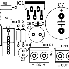 Audio Amplifier Circuit Diagram With Layout Led String Lights Wiring Power Tda2040 20 Watts Xtronic Pcb Silk Screen 700x419 Transistor Tot Tda