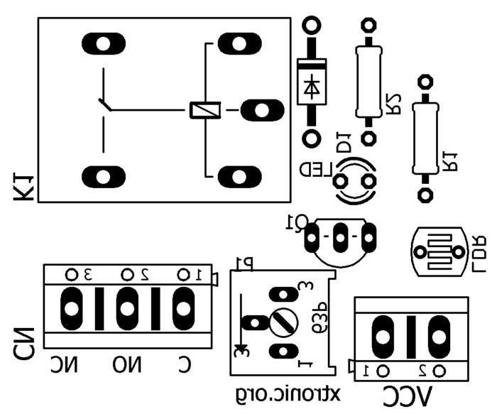 Module Circuit light sensor with LDR (Light Dependent