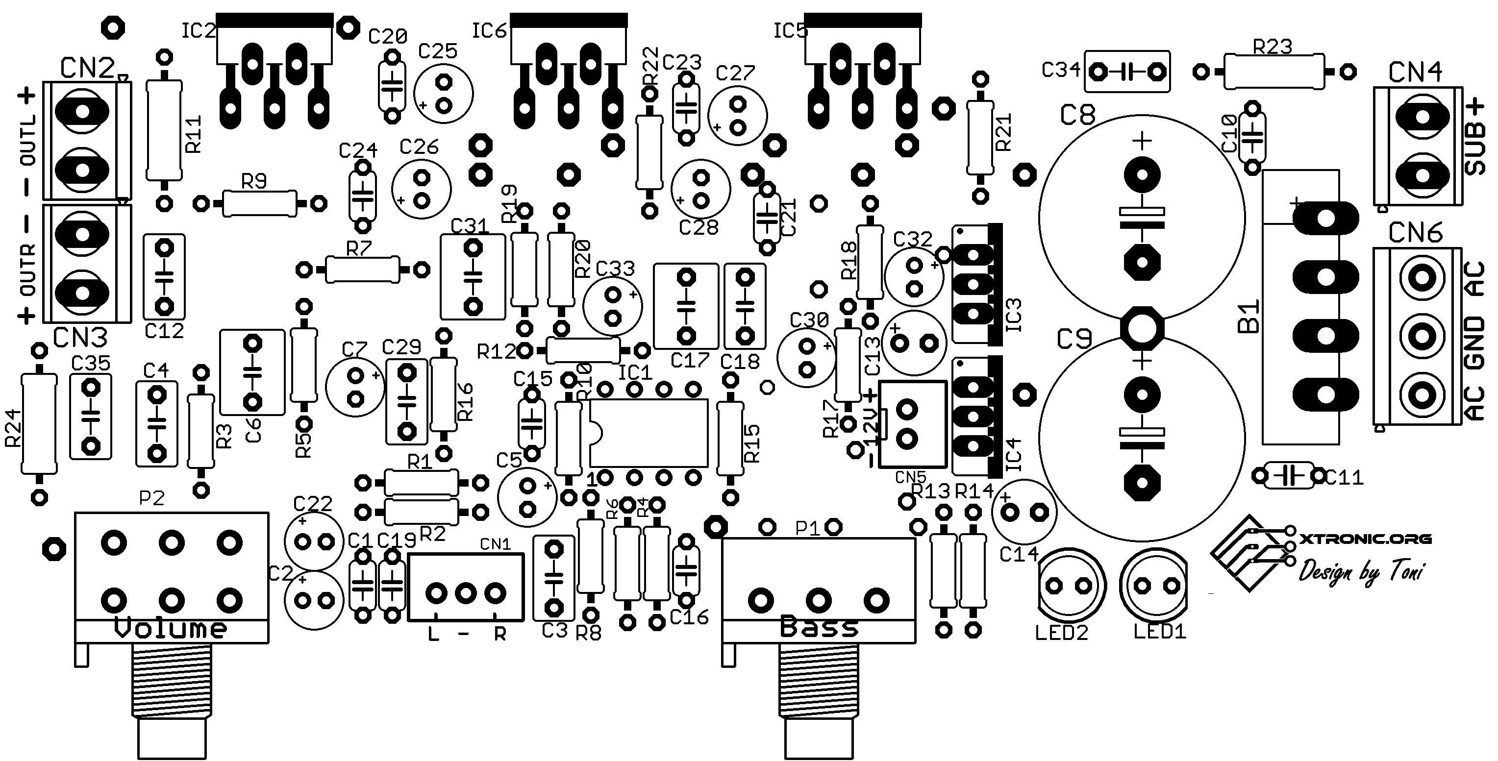 2.1 subwoofer amplifier circuit diagram