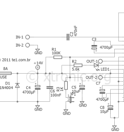 car audio amplifier circuit with ic tda1562 70 w xtronic free project circuit diagram tda7850 car power amplifier circuit [ 1350 x 981 Pixel ]