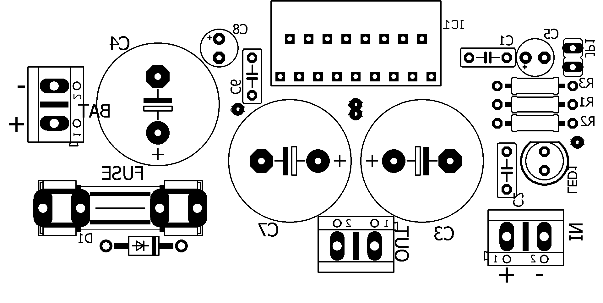 Tda Amplifier Audio Silk Suggested Printed Circuit Board For Mounting Circuit Audio