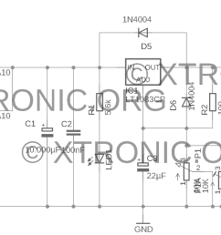 power supply schematic lt1083 700x298 power supply regulated 7 5a 1 2 to 35volt lt1083 power [ 1909 x 812 Pixel ]