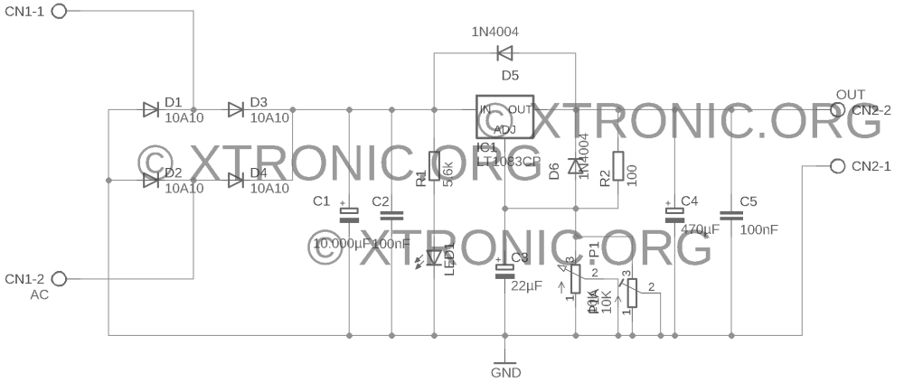 medium resolution of power supply schematic lt1083 700x298 power supply regulated 7 5a 1 2 to 35volt lt1083 power