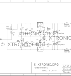 lm337 lm317 regulated symmetrical power supply circuit 700x508 adjustable symmetrical power supply with lm317 and lm337 [ 2187 x 1587 Pixel ]