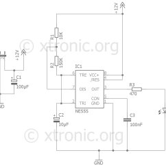 Car Wiring Diagrams Alarm Trailer Diagram 5 Wire Fake Circuit  555 Led Flash Xtronic