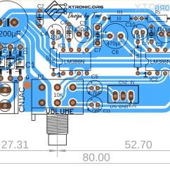 Audio Amplifier Circuit Diagram With Layout Burglar Alarm Simple Stereo Lm386 Xtronic