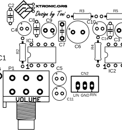stereo audio amplifier lm386 pcb layout stereo audio amplifier lm386 pcb silk [ 1922 x 1304 Pixel ]