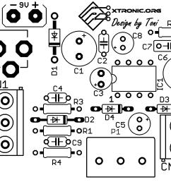 circuit lm386 audio rf probe amplifier pcb silk [ 1292 x 1545 Pixel ]