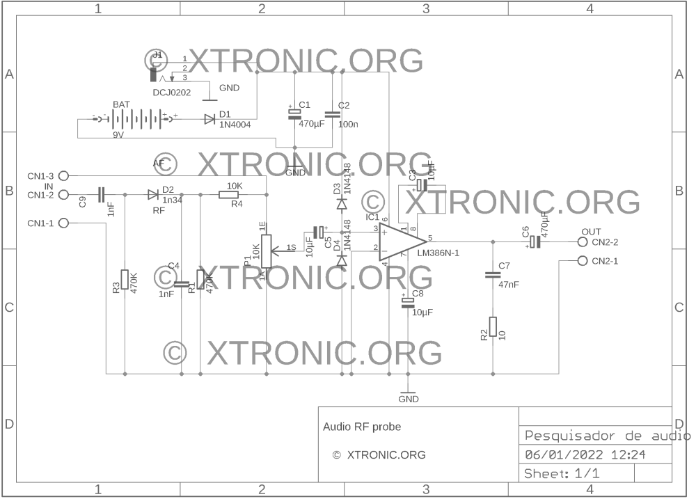 medium resolution of circuit diagram of the audio and rf signal investigator