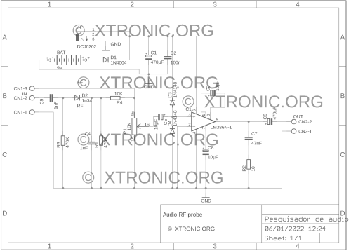 small resolution of circuit diagram of the audio and rf signal investigator
