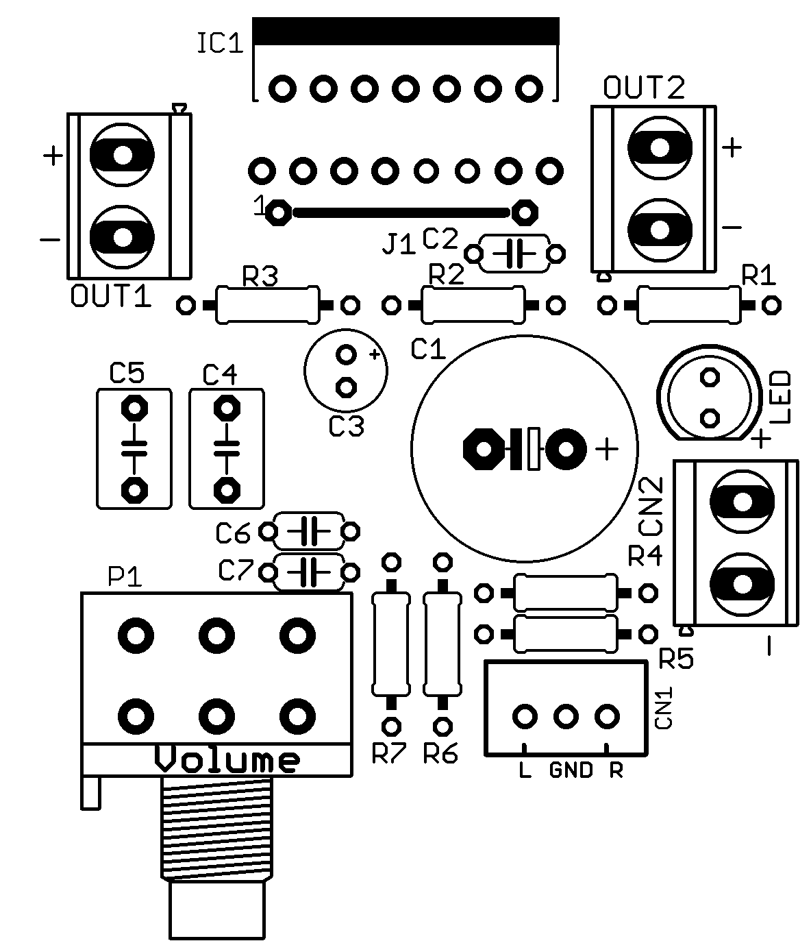 Stereo Power Audio Amplifier With Tda
