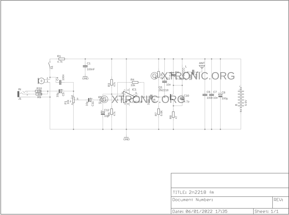 medium resolution of transmitter circuit diagram audio amplifier schematic circuits circuit schematics lm741 net part 2 tens circuit diagram