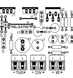 layout tda2030 transistors bd908 bd907 18w amplifier pcb silk [ 1392 x 1233 Pixel ]