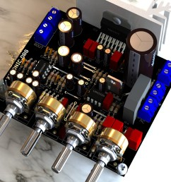 circuit power audio amplifier with tda7377 2 1 [ 1024 x 768 Pixel ]