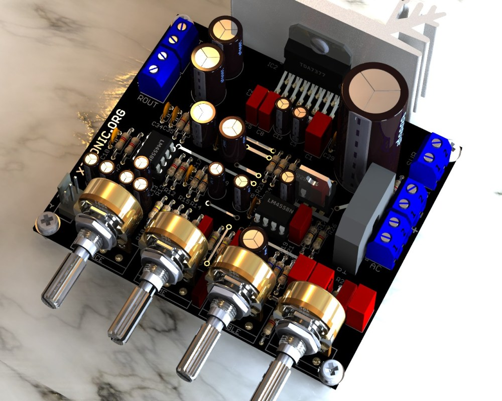 medium resolution of circuit power audio amplifier with tda7377 2 1
