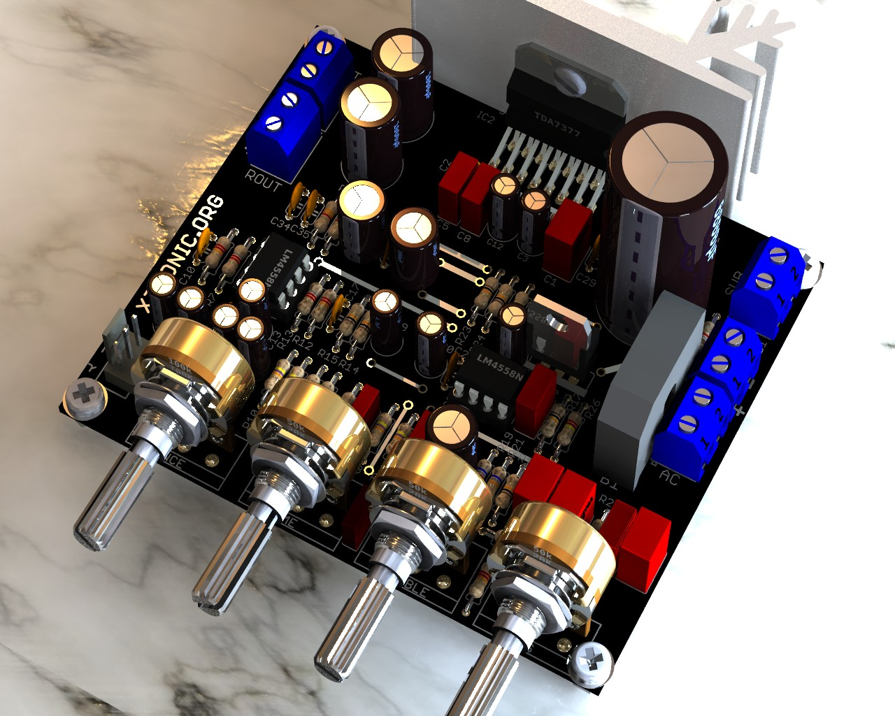 hight resolution of circuit power audio amplifier with tda7377 2 1