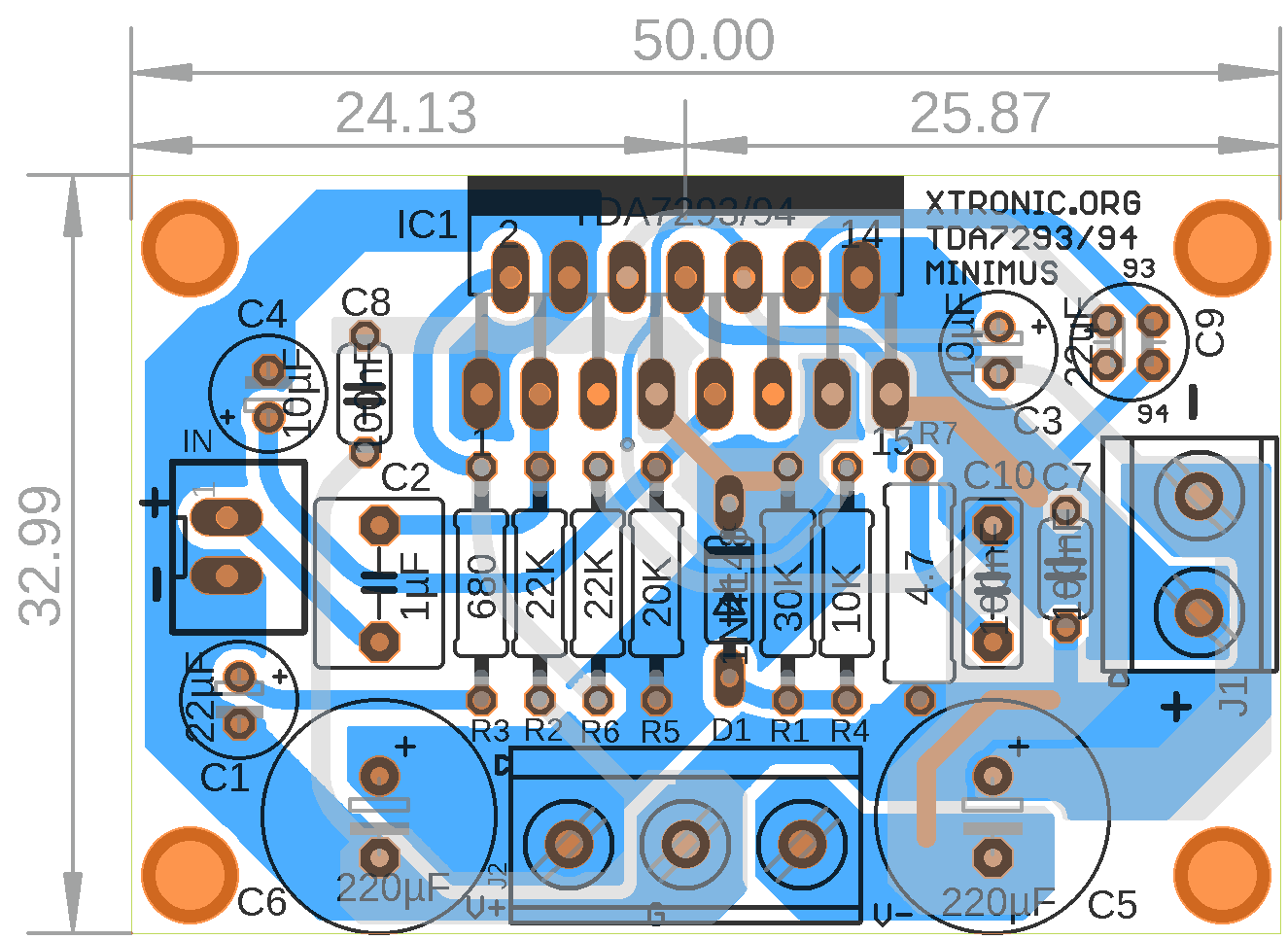 circuit diagram of home theater 1997 ford f350 headlight switch wiring audio power amplifier with ic tda7294 or tda7293 - #minimus xtronic