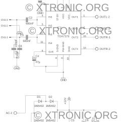 Audio Amplifier Circuit Diagram With Layout Cb350 Parts Stereo Power Ic Tda7379 38w Xtronic