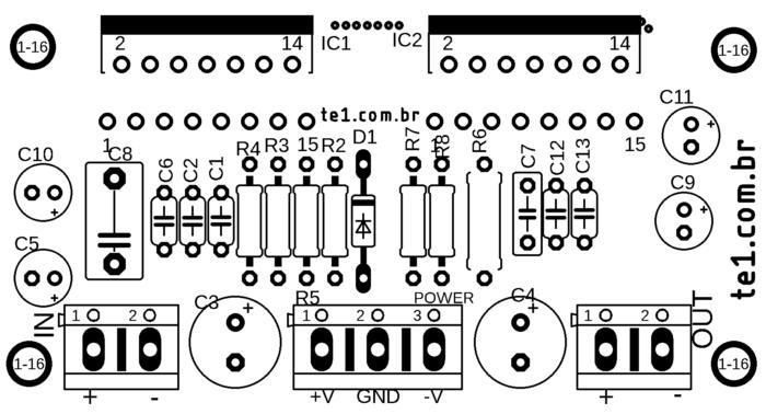 Audio Power amplifier modular TDA7293 in parallel #Minimus