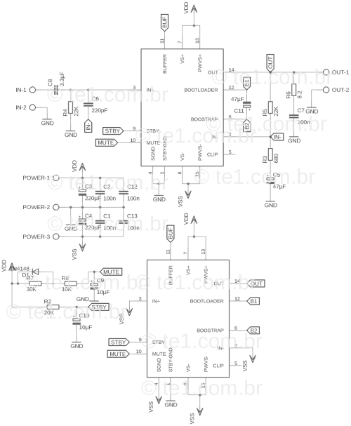 small resolution of tda7293 in parallel schematic circuit