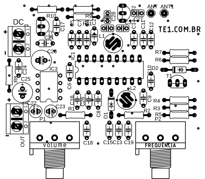 FM radio receiver diy circuit with IC TDA7000 and Lm386