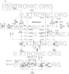 xtronic transmitter power amplifier schematic electronics stereo electronics diy 8211 electronic schematics fm transmitters tv transmitters stereo  [ 1080 x 813 Pixel ]